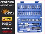Zestaw narzędziowy TOPEX DD101 46 elementów o uchwycie narzędziowym 1/4