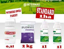 Dokarmianie dolistne kukurydzy INTERMAG Pakiet STANDARD 1ha Bez Siarczanu Magnezu