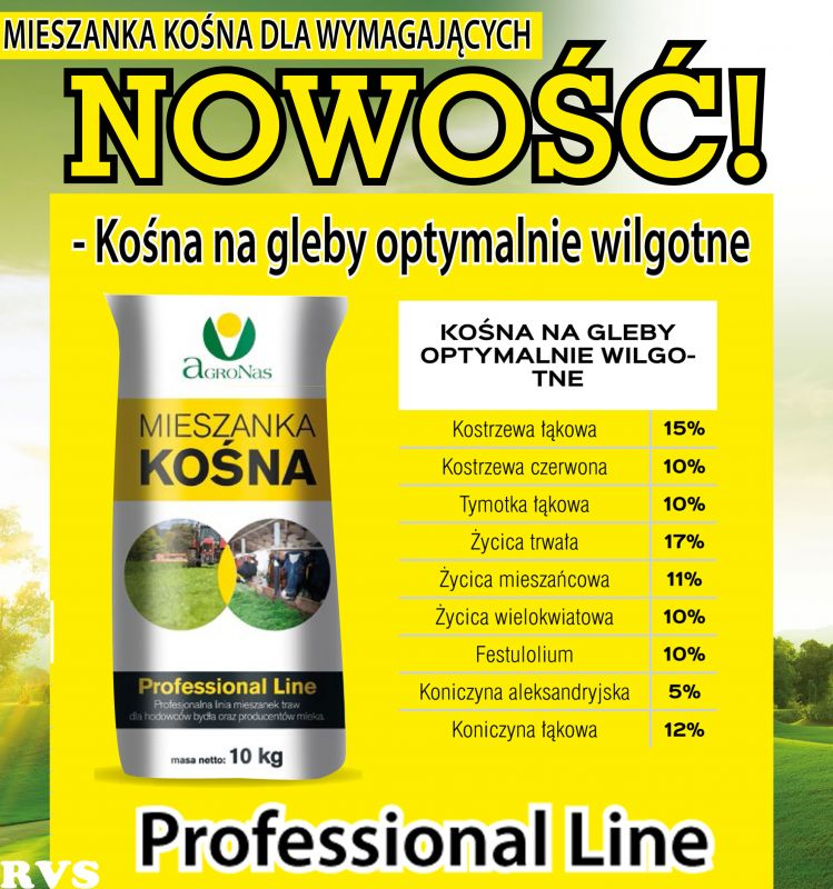 Nasiona Traw Mieszanka Kośna na gleby optymalnie wilgotne  10kg